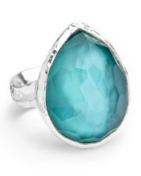 Ippolita | Blue Sterling Silver Wonderland Teardrop Ring In Denim | Lyst
