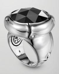 John Hardy | Black Batu Bamboo Silver Hematite Ring for Men | Lyst