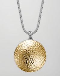 John Hardy | Metallic Palu Hammered Gold Enhancer | Lyst