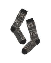Madewell - Black Lisa Breg Fair Isle Trouser Socks - Lyst