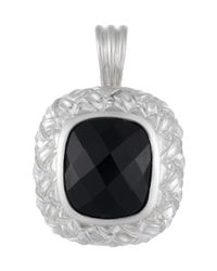 Slane | Black Basket-Weave Onyx Pendant | Lyst