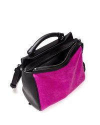 3.1 Phillip Lim - Pink Ryder Small Calf-hair Bag - Lyst