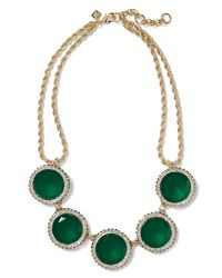 Banana Republic - Gumdrop Necklace Emerald Green - Lyst
