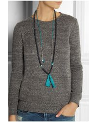 Chan Luu | Blue Tasseled Amazonite Long Necklace | Lyst