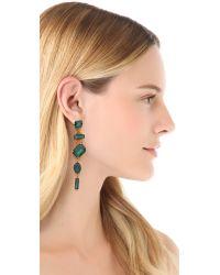 Erickson Beamon - Green Family Jewels Drop Earrings - Lyst
