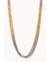 Forever 21 | Black Sleek Colorblocked Chain Necklace | Lyst