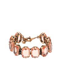 J.Crew | Pink Color Stone Bracelet | Lyst