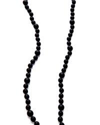 Kenneth Jay Lane - Black Beaded Tassel Necklace - Lyst