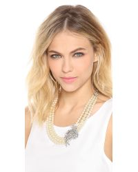 Ben-Amun - White Crystal Pearl Necklace - Lyst