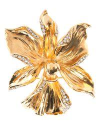 Emanuel Ungaro | Metallic Flower Brooch | Lyst