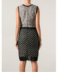 Giambattista Valli - Gray Fitted Knit Dress - Lyst