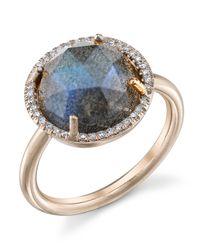 Irene Neuwirth - Gray Rose Cut Labradorite Ring - Lyst