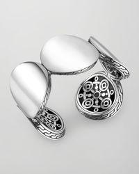 John Hardy - Metallic Dot Silver Large Flex Cuff Bracelet - Lyst