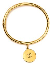 kate spade new york | Metallic Good As Gold Charm Bracelet | Lyst
