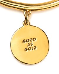 kate spade new york - Metallic Good As Gold Charm Bracelet - Lyst