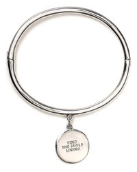 kate spade new york | Metallic Find The Silver Lining Charm Bracelet | Lyst