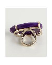 Kendra Scott - Purple Agate Tela Cocktail Ring - Lyst