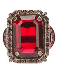 Lanvin | Red Faceted Gem Ring | Lyst