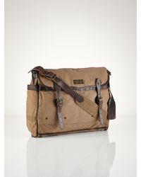 d384b5fde51b Polo Ralph Lauren Canvas Messenger Bag in Natural for Men - Lyst