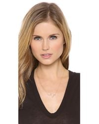 Sarah Chloe - Metallic Large Heartbeat Necklace - Gold - Lyst
