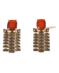 Wouters & Hendrix | Red Studded Drop Earrings | Lyst