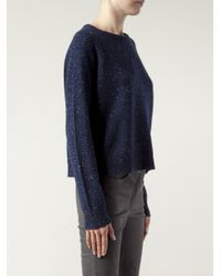 Alexander Wang | Blue Dotted Speckled Knit Cardigan | Lyst