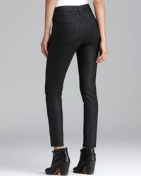 Big Star | Black Jeans Alex Skinny Coated in Gotham | Lyst