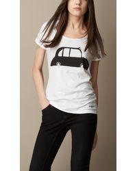 Burberry - White London Graphic Cotton T-shirt - Lyst