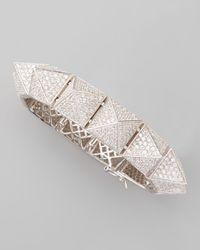 Eddie Borgo - Brown Large Pave Pyramid Bracelet - Lyst