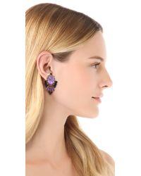 Erickson Beamon - Pretty in Pink Statement Earrings - Lyst
