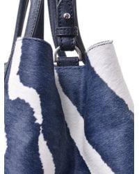 Fendi - Blue 2jours Pony Hair and Leather Tote - Lyst