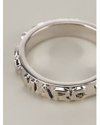 Marc By Marc Jacobs - Metallic Letter Press Ring - Lyst