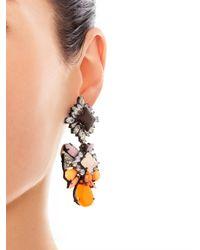 Shourouk | Metallic Blondie Crystalembellished Earrings | Lyst