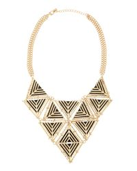 Fragments | Metallic Geometric Bib Necklace | Lyst