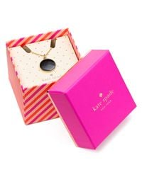 """kate spade new york - Metallic Skirt The Rules Boxed Pendant Necklace 18"""" - Lyst"""