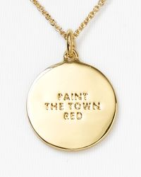 "kate spade new york - Paint The Town Red Boxed Pendant Necklace 18"" - Lyst"