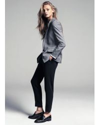 Mango - Black Crepe Suit Trousers - Lyst