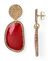 Roni Blanshay | Red Quartz Slice Earrings | Lyst