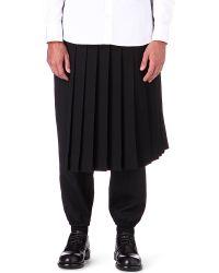 Yohji Yamamoto - Black Pleated Kilt for Men - Lyst