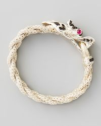 John Hardy | Naga Dragon Head Bracelet Black Sapphire | Lyst