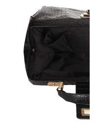 TOPSHOP - Black Croc Doctors Bag - Lyst