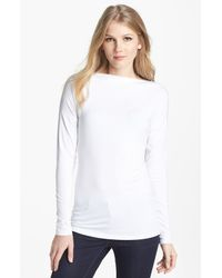 Vince | White Boatneck Tee | Lyst