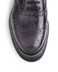 Church's - Gray Indigo Patent Leather Laceup Oxfords - Lyst