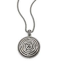 David Yurman | Metallic Sterling Silver Labyrinth Enhancer | Lyst