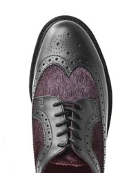 Dr. Martens   Purple Nash Leather and Calf Hair Brogues for Men   Lyst