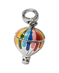 Fossil | Metallic Silvertone Rainbow Enamel Hot Air Balloon Charm | Lyst