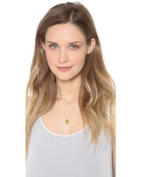 Sarah Chloe | Metallic Eva Engraved Pendant Necklace - N | Lyst