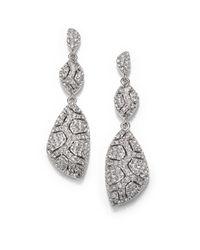 Adriana Orsini - Metallic Pavé Crystal Shell Triple-Drop Earrings - Lyst