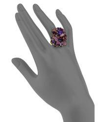 Aerin Erickson Beamon - Purple Faceted Cluster Ring - Lyst