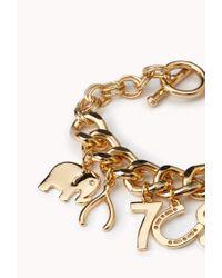 Forever 21 - Metallic Get Lucky Charm Bracelet - Lyst